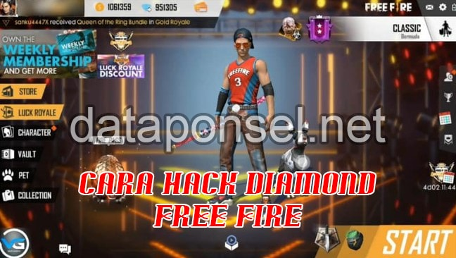 Cara hack diamond FF